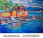 original oil painting. seascape ... | Shutterstock . vector #1229518003