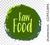 raw food diet label  green... | Shutterstock .eps vector #1229522896