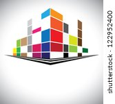 concept vector icon   colorful... | Shutterstock .eps vector #122952400