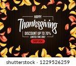 thanks giving design... | Shutterstock .eps vector #1229526259