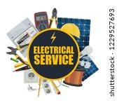 electrical service  electrician ... | Shutterstock .eps vector #1229527693