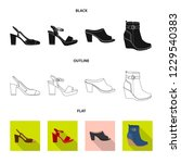 isolated object of footwear and ... | Shutterstock .eps vector #1229540383