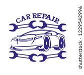 car repair sign on a white... | Shutterstock .eps vector #1229542996
