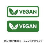 vegan bio  ecology  organic... | Shutterstock .eps vector #1229549839