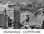new york cityscape. top view on ... | Shutterstock . vector #1229551186