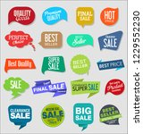 vintage style sale tags design... | Shutterstock .eps vector #1229552230