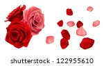 Stock vector rose with petals 122955610