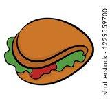hand drawn icon of tortilla...   Shutterstock .eps vector #1229559700