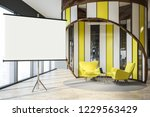modern office waiting area with ... | Shutterstock . vector #1229563429
