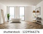modern bathroom interior with... | Shutterstock . vector #1229566276