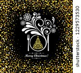 special christmas menu design.... | Shutterstock .eps vector #1229573530