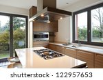 Stock photo beautiful apartment interior kitchen 122957653