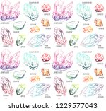 seamless pattern of hand drawn... | Shutterstock .eps vector #1229577043