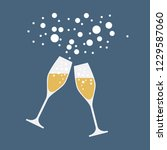 drink a toast to the party  new ... | Shutterstock .eps vector #1229587060