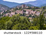 landscape panorama with... | Shutterstock . vector #1229588110