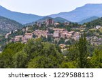 landscape panorama with... | Shutterstock . vector #1229588113