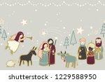 christmas nativity scene... | Shutterstock .eps vector #1229588950