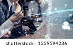 business and technology concept. | Shutterstock . vector #1229594236