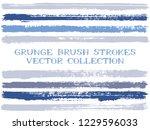 long blue grey ink brush... | Shutterstock .eps vector #1229596033