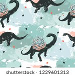 hand drawn vector abstract ink... | Shutterstock .eps vector #1229601313