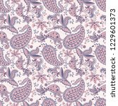 paisley pattern. seamless... | Shutterstock .eps vector #1229601373