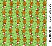 ginger bread man pattern.... | Shutterstock . vector #1229603800