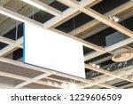 mock up. horizontal rectangular ... | Shutterstock . vector #1229606509