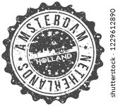 amsterdam holland travel stamp... | Shutterstock .eps vector #1229612890