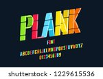 original font made up of line... | Shutterstock .eps vector #1229615536