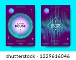 wave music poster with...   Shutterstock .eps vector #1229616046
