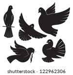 the figure shows a dove | Shutterstock .eps vector #122962306