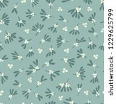 seamless abstract mistletoe... | Shutterstock .eps vector #1229625799