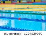 swimming pool   lane lines... | Shutterstock . vector #1229629090