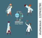 genome sequencing. unique... | Shutterstock .eps vector #1229632780