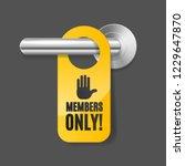 realistic 3d detailed members... | Shutterstock .eps vector #1229647870