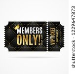 realistic 3d detailed vip... | Shutterstock .eps vector #1229647873