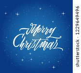 merry christmas text vector on... | Shutterstock .eps vector #1229649496