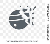destroyed planet icon.... | Shutterstock .eps vector #1229650363
