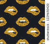 glamour lips seamless pattern....   Shutterstock .eps vector #1229650420