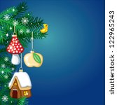 christmas background from the... | Shutterstock .eps vector #122965243
