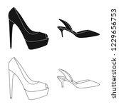 vector design of footwear and... | Shutterstock .eps vector #1229656753