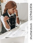 sick african american adult... | Shutterstock . vector #1229661856