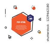 pdf html infographic icon