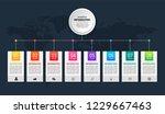 timeline infographics template...   Shutterstock .eps vector #1229667463