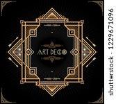 art deco frame. classic vintage ... | Shutterstock .eps vector #1229671096