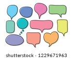 vector bubbles speech set. hand ... | Shutterstock .eps vector #1229671963