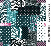 stylish animal skin mixed with... | Shutterstock .eps vector #1229672233