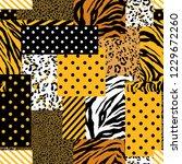 summer bright safari animal... | Shutterstock .eps vector #1229672260