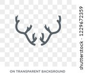 deer horns icon. deer horns... | Shutterstock .eps vector #1229672359