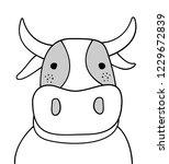 doodle sketch cow illustration. ... | Shutterstock .eps vector #1229672839